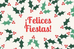 Crema Rojo Verde Acebo Navidad Iconos Vacaciones Tarjeta Postal